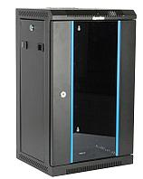 Hyperline TDC-6U-GR-RAL9004 Шкаф настенный 10'', 6U, 350х370х300, уст. размер 254 мм, со стеклянной
