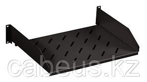 """Hyperline TASL-960-RAL9004 Полка угловая с перфорацией 19"""", 2U, ширина 444 мм, глубина 710 мм, цвет черный"""