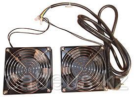 Hyperline TFY-WMC-2FAN Вентилятор двойной 220 V для настенных шкафов с кабелем питания немецкого стандарта 1.8
