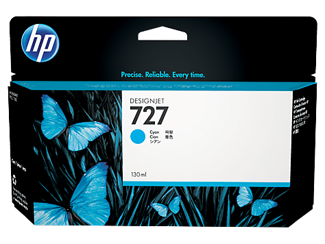 Струйный картридж HP 727 (Оригинальный, Голубой - Cyan) B3P19A