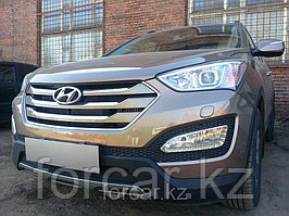 Защита радиатора Hyundai  SANTA FE с 2013- black