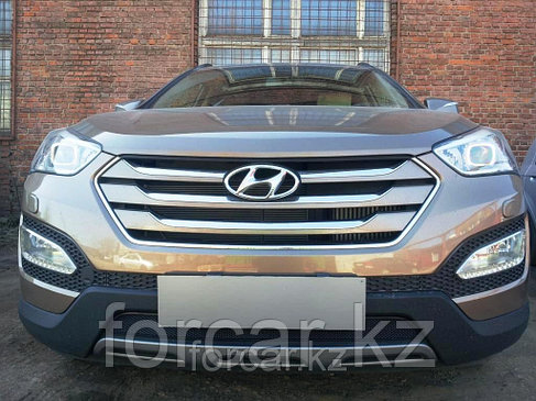 Защита радиатора Hyundai  SANTA FE с 2013- black, фото 2