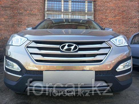 Защита радиатора Hyundai  SANTA FE с 2013- chrome, фото 2
