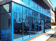 Фасад из алюминиевых конструкций