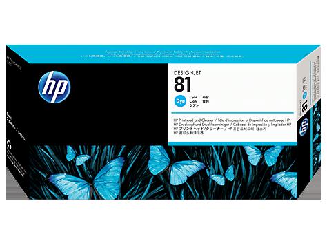 Печатающая головка HP 81 Cyan C4951A