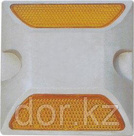 Катафот светоотражающий пластиковый КД-3 ГОСТ 50971-2011 двухсторонний белый/желтый