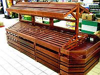 Торговое оборудование из дерева