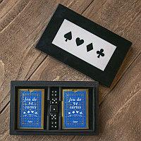 Набор из двух колод карт и игральных костей в коробке Resin Card 2 And Dice Box