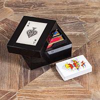 Шкатулка с тремя колодами карт Resin Card Box With 3 Compartments