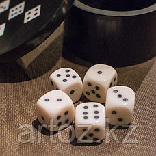 Круглая шкатулка с 5 игральными костями  Resin Round Box With 5 Dices, фото 2