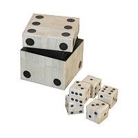 Деревянный футляр с 5 игральными костями Wooden White Box With 5 Dices