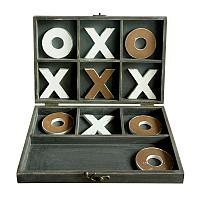 Игра Крестики-нолики, дерево Wooden Tic-Tac Toe Game