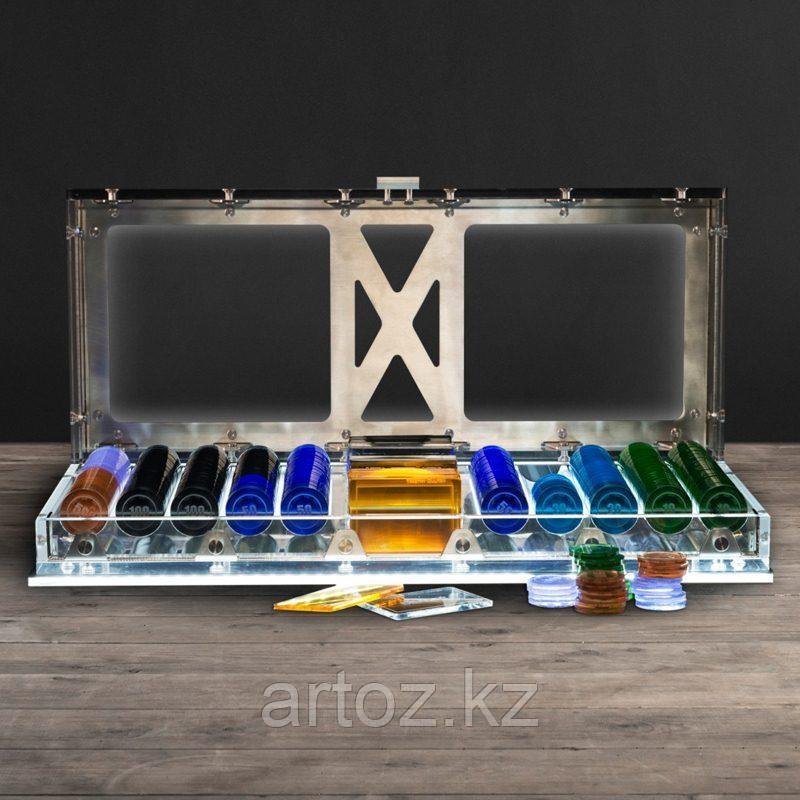 Набор для игры в покер Спектр с подсветкой  Spectrum Poker Set With Led