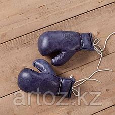 Кожаные боксерские мини-перчатки, синие Sport Boxing Gloves, Library Blue, фото 2