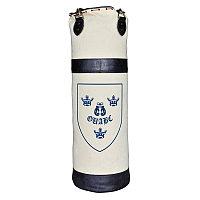 Боксёрский мешок из холщевой ткани с двумя синими кожаными полосками и гербом  Sport Punch Bag Plain With Cres