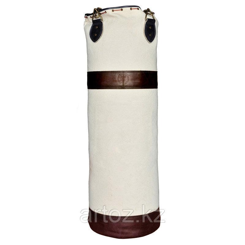 Боксёрский мешок из холщевой ткани с двумя коричневыми кожаными полосками без герба  Sport Punch Bag Without C