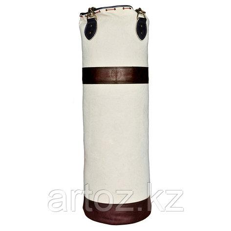 Боксёрский мешок из холщевой ткани с двумя коричневыми кожаными полосками без герба  Sport Punch Bag Without C, фото 2