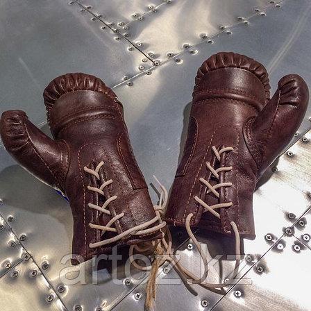 Кожаные боксерские мини-перчатки, коричневые  Sport Boxing Gloves, Library Brown, фото 2