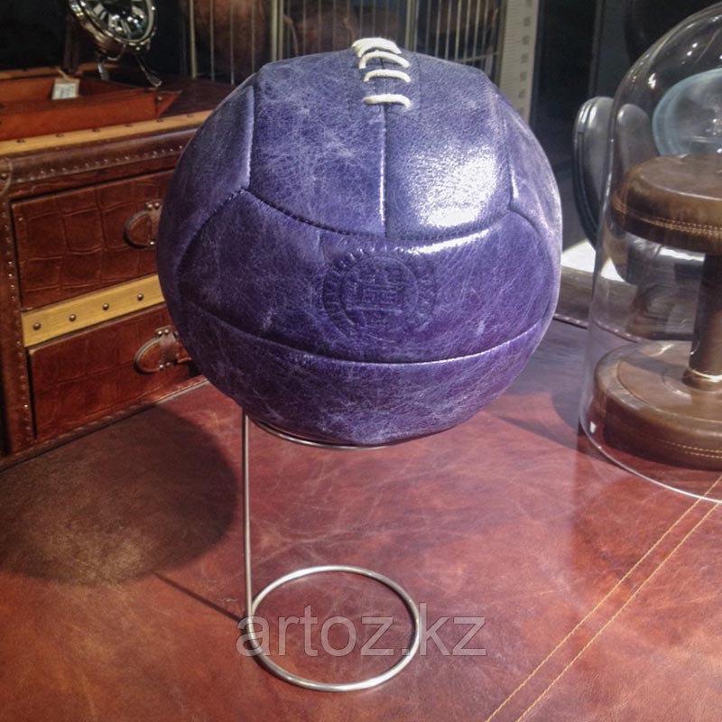 Футбольный кожаный мяч на подставке, синий  Sport Football With Stand, Library Blue