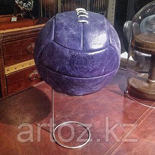Футбольный кожаный мяч на подставке, синий  Sport Football With Stand, Library Blue, фото 2
