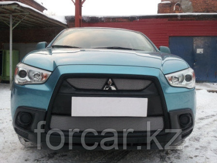 Защита радиатора Mitsubishi ASX 2010-2013 (2 части ) chrome