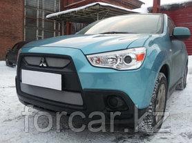 Защита радиатора Mitsubishi ASX 2010-2013 (2 части ) chrome, фото 2