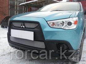 Защита радиатора Mitsubishi ASX 2010-2013 (2 части ) chrome, фото 3