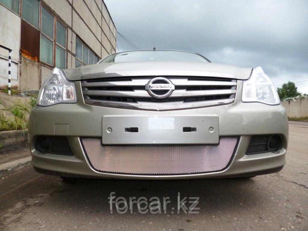 Защита радиатора Nissan Almera 2013 -  chrome