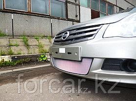 Защита радиатора Nissan Almera 2013 -  chrome, фото 3