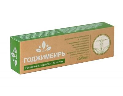 ГоджИмбирь,  пищевой концентрат батончик с бобами, 45г