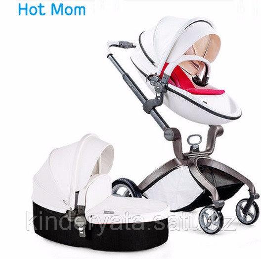 Коляска Hot mom 2 в 1 Комбинированная(white&black)