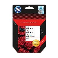 Картридж HP Europe/F6T40AE/Чернильный/№46/2 черных и 1 цветной/HPS, фото 1