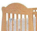 """Кровать детская """"Мишутка 3 """" (Базовая + маятник с ящиком) Можгинский лесокомбинат(белый,сл.кость), фото 4"""