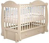 """Кровать детская """"Мишутка 3 """" (Базовая + маятник с ящиком) Можгинский лесокомбинат(белый,сл.кость), фото 8"""