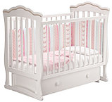 """Кровать детская """"Вэлла 3"""" (Базовая + маятник с ящиком) Можгинский лесокомбинат(белая,слон.кость), фото 6"""