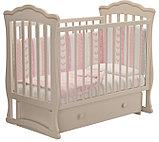 """Кровать детская """"Вэлла 3"""" (Базовая + маятник с ящиком) Можгинский лесокомбинат(белая,слон.кость), фото 7"""