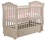 """Кровать детская """"Вэлла 3"""" (Базовая + маятник с ящиком) Можгинский лесокомбинат(белая,слон.кость), фото 8"""
