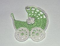 Коляска вязаная - зеленая