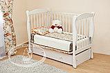 Кровать детская Уралочка Красная звезда (белая,сл.кость), фото 4