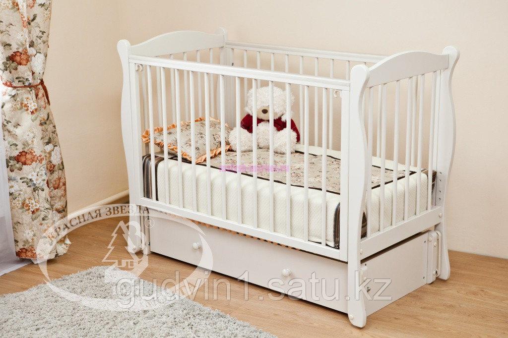 Кровать детская Уралочка Красная звезда (белая,сл.кость)