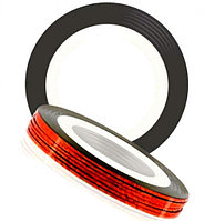 Лента для дизайна. 0.8 мм. Красная, матовая.