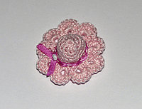 Шляпка вязаная - розовая