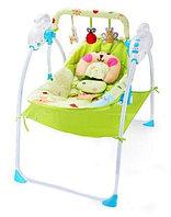 Музыкальные электрокачели Baby cradle (голубo-зеленый)