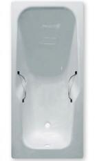 Чугунная ванна Эврика 170 см с ручками