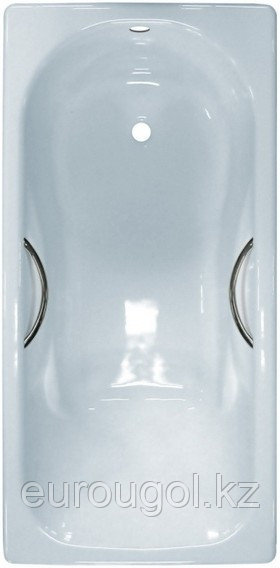 Чугунная ванна Сибирячка 170 см с ручками