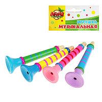 Игрушка музыкальная Дудочка на веревочке, большая, цвета МИКС