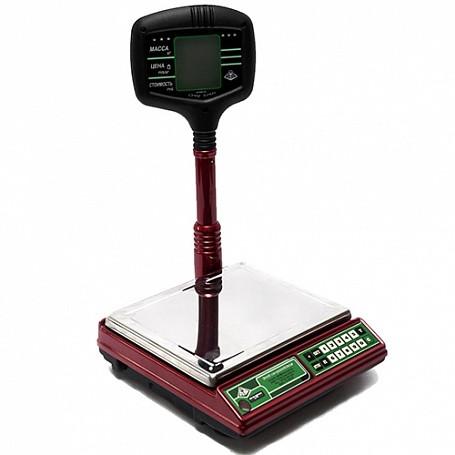 Весы электронные ВЭУ-15-1/2/5-А/#00/51 (440х310х550 мм, платф. 230х270м,с табло на стойке, до 15 кг)