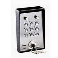 Клавиатура кодовая 9-кнопочная / накладная с ключом и подсветкой (16 777 216 кодовых комбинаций)
