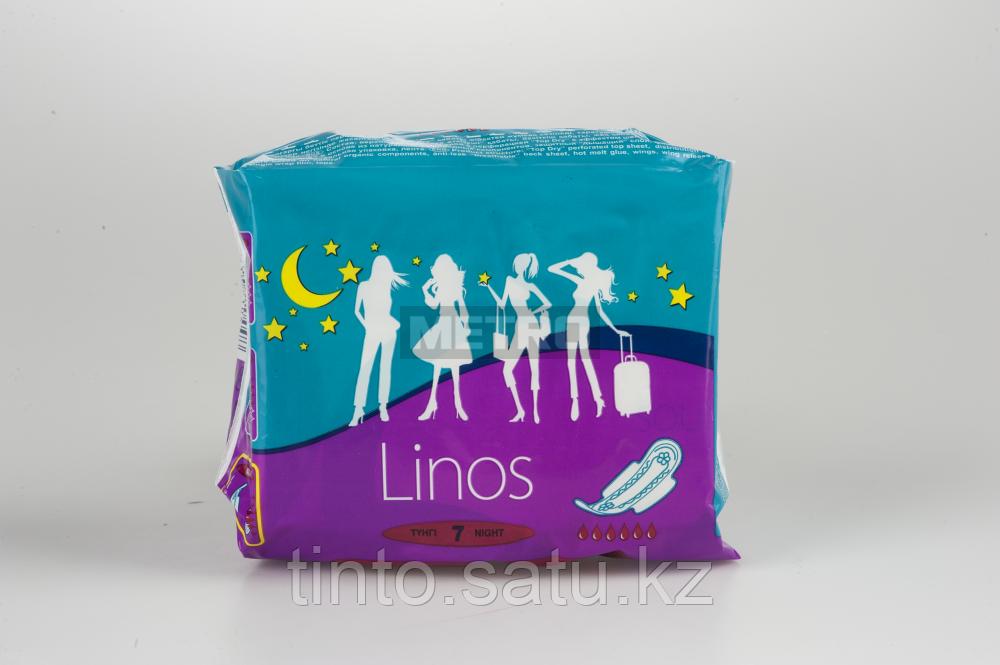 Гигиенические прокладки Linos night