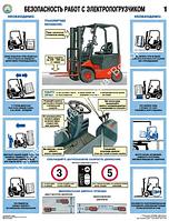 """Плакат """"Безопасность работ с электро погрузчиком"""", фото 1"""
